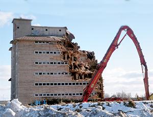Niðurrif og förgun byggingarefna
