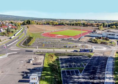 Athletics Field in Børstad, Access Road and Parking