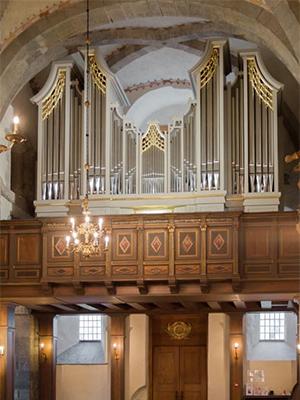 Orgel smíðað af Weimbs Orgelbau fyrir Maríukirkjuna í Bergen