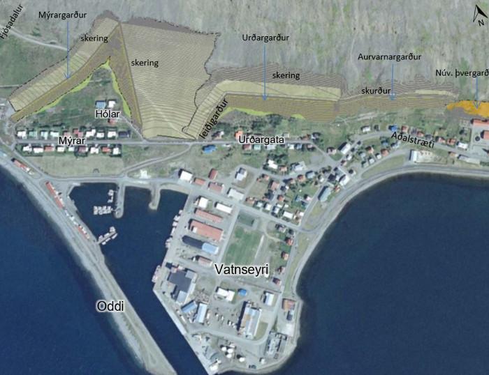 Ofanflóðavarnir á Patreksfirði, Vesturbyggð.