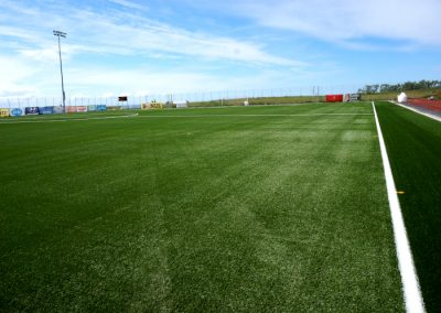 Artificial turf on training fields in Seltjarnarnes