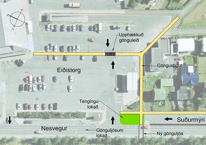 Gönguleiðir við Eiðistorg